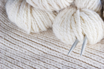 craft background - knitting