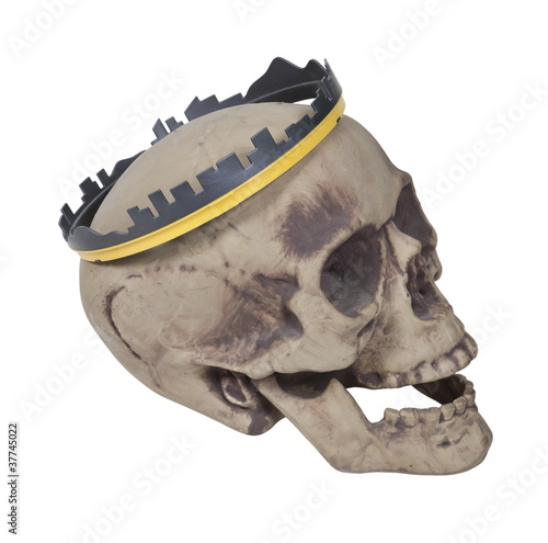 Skull Wearing Skyline Crown