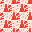 Seamless fashion pattern. vector