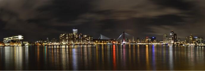 Nachtpanorama Rotterdam