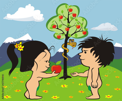 garden of eden - adam and eve