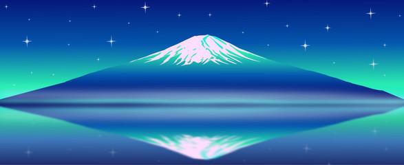 Fuji Mt. vector image