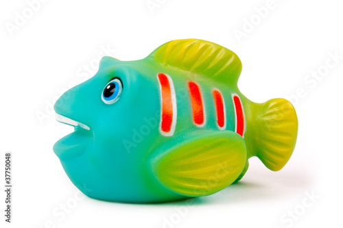 Rubber fish toy by olga drabovich royalty free stock for Rubber fish toy
