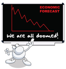 Man with we are all doomed economic forecast