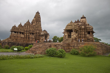 Temples of the western group in Khajuraho, India