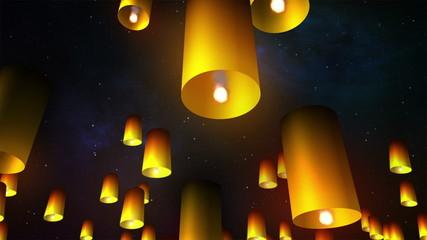 Launching sky lanterns