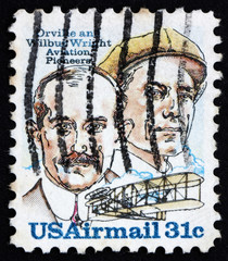 Postage stamp USA 1978 Orville and Wilbur Wright