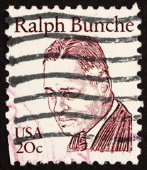 Postage stamp USA 1983 Ralph Bunche