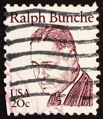 Postage stamp USA 1983 Ralph Bunche