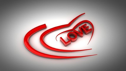 Love and Heart 3d Animation HD