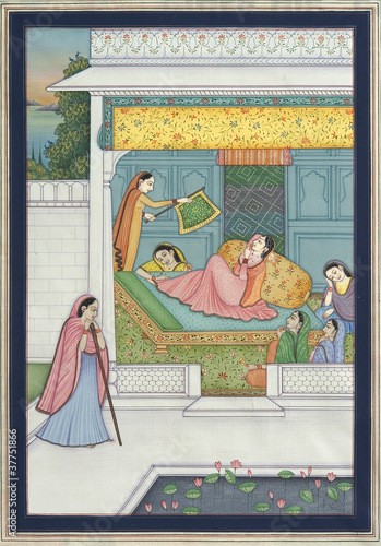 Indian miniature painting, Jaipur, Rajasthan, India