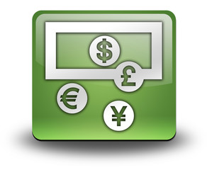 "Green 3D Effect Icon ""Currency Exchange"""