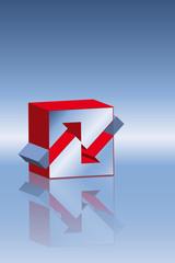 Logo hin und zurueck rot