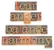 fear, anger, balance, harmony