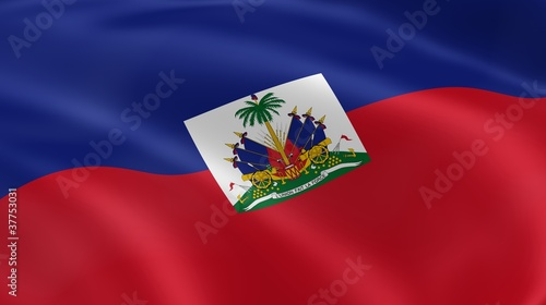 Haitian flag in the wind
