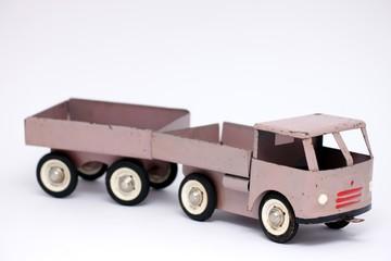 Modell von altem Metall Lastwagen mit Angänger