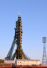 Soyuz Spacecraft on the Launch Pad