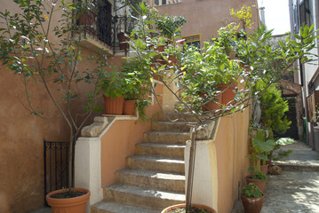 Stairs in Chania Western Crete Greece