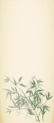 Vector background. Bamboo shoots in oriental style