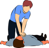 Cardiopulmonary resuscitation or  CPR poster