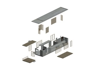 Architecture Exploded in axonometric2
