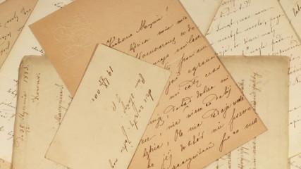 Antique letters full frame background