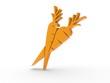 3d Icon Karotten orange
