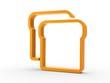 3d Icon Toastbrot orange