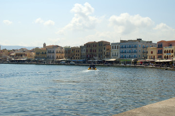 Harbour in Chania Western Crete Greece