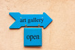 Art gallery sign in Albuquerque Old Town
