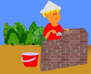 mały murarz