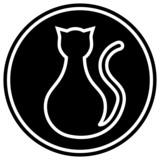Gato negro icono poster