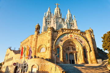 Tibidabo church in Barcelona, Spain.