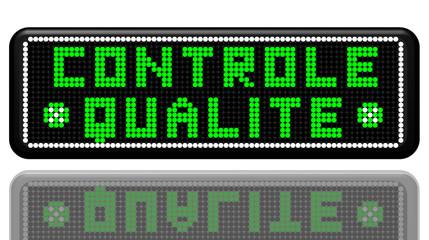PANNEAU A LEDS CONTROLE QUALITE AVEC EFFET MIROIR