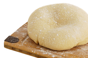Dough ball on cutting board