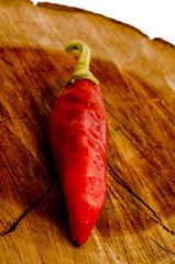 peperoncino forte sul ceppo