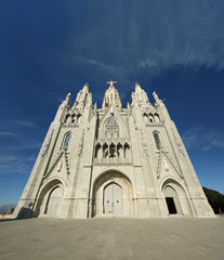 Tibidabo church, Barcelona, Spain