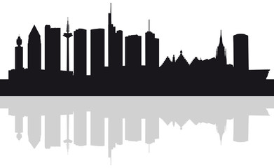 Skyline Frankfurt am Main (Silhouette)