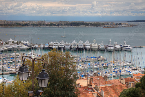 Cannes during springtime before festival, tungsten day.