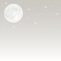 満月と夜空