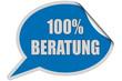 SP-Sticker blau 100% BERATUNG