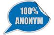 SP-Sticker blau curl oben 100% ANONYM
