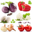 Vegetables collection, with clipping paths