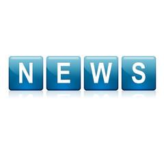Botones azules texto NEWS