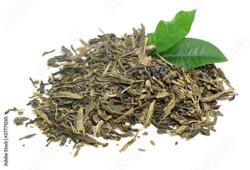 Teeblätter, grün