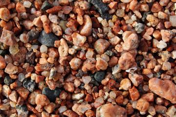 closeup pebble on sea shore