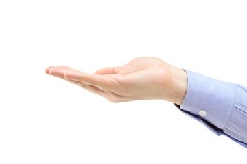 A studio shot of a male hand