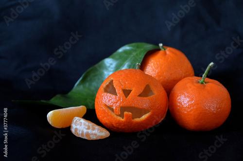 Clémentine en déguisement d'Halloween