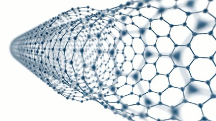 Multi Walled Carbon Nanotube on White Background