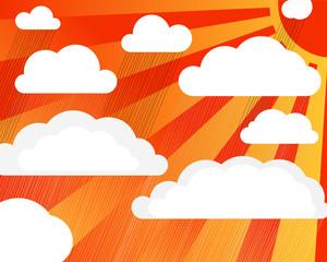 Rain clouds with sun